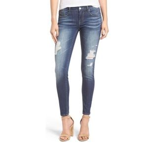 Vigoss Chelsea Low Rise Distressed Skinny Jean